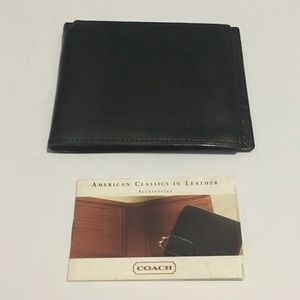 Coach Black Leather Bifold Wallet